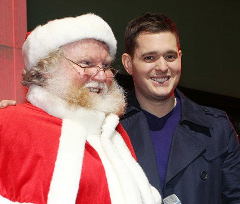 Michael Buble with Santa Claus