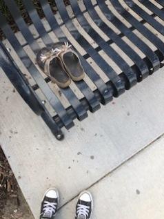 a pair of women's sandals